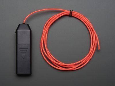 EL Flowing Effect Wire with Inverter - Pink 2.0 meter (6.5 ft) - AF953