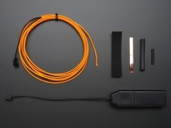 EL Wire Başlangıç Paketi - Turuncu, 2.5 m - AF586 - Thumbnail