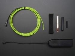 EL Wire Başlangıç Paketi - Yeşil, 2.5 m - AF584 - Thumbnail