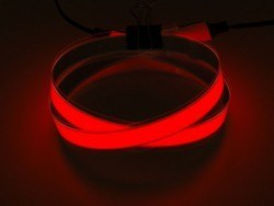 Adafruit - EL Wire Şerit Bant - Kırmızı, 1 m, Çift Konektör - AF445