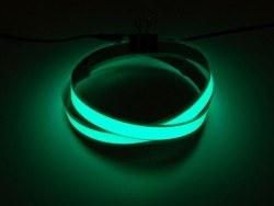 Adafruit - EL Wire Şerit Bant - Yeşil, 1 m, Çift Konektör - AF446
