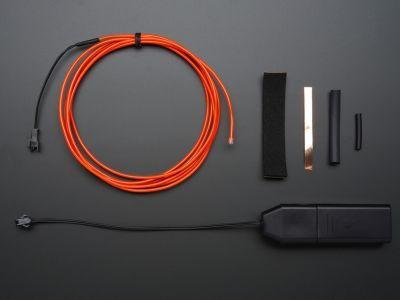 EL wire starter pack - Red 2.5 meter (8.2 ft) - AF587