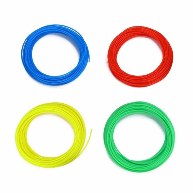 eMate Rainbow Pack for 3D Printing Pen - 6 Colours 5 metres each