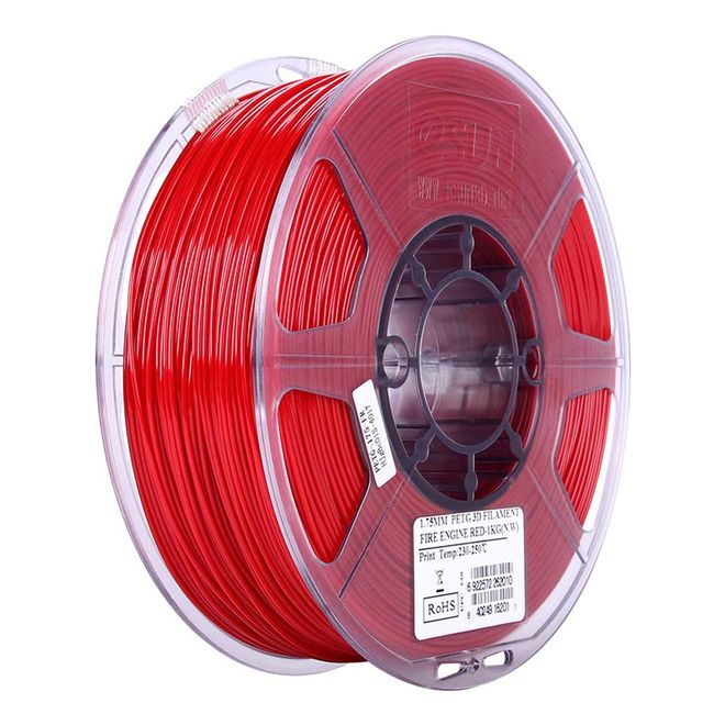 Esun 1.75 mm Alev Kırmızı PETG Filament - Fire Engine Red