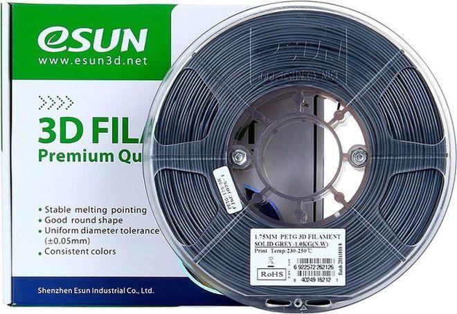 Esun 1.75 mm Gri PETG Filament - Solid Grey