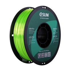Esun - Esun 1.75 mm Limon Yeşili Parlak Yüzeyli eSilk-PLA Filament - Lime