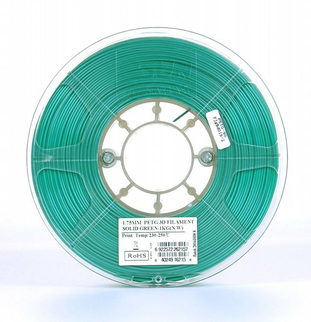 Esun 1.75 mm Yeşil PETG Filament - Solid Green