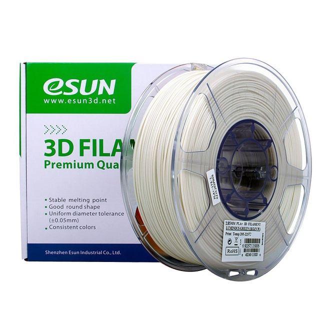 Esun 2.85 mm Fosforlu Yeşil PLA+ Filament - Luminous Green