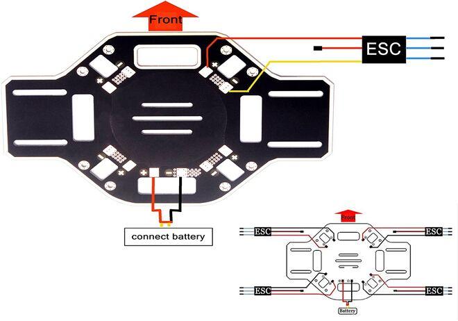 F450 Drone Gövde Kiti - Kırmızı ve Beyaz