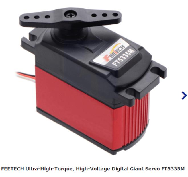 FEETECH Ultra-High-Torque, High-Voltage Digital Giant Servo FT5335M-FB with Position Feedback
