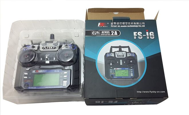 Flysky FS-i6 2.4GHZ 6 Kanal Alıcı-Verici Kumanda (Entegre LCD Ekran)