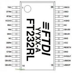 FT232RL - USB - UART Converter (FTDI) IC - Thumbnail