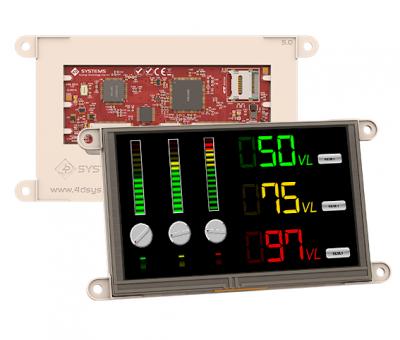 gen4 5.0 Inch Dokunmatik, Çerçevesiz TFT LCD Ekran - gen4-uLCD-50DT