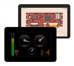 4D Systems - gen4 5.0 Inch Kap. Dokunmatik Çerçeveli LCD Ekran (gen4-uLCD-50DCT-CLB)