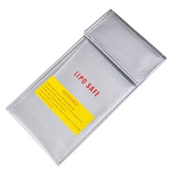 China - Glassfiber LiPo Pil Yanmaz - Dayanıklı Saklama Çantası - 20x10 cm