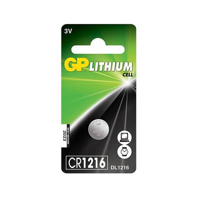 GP CR1216 3V Coin Cell Battery