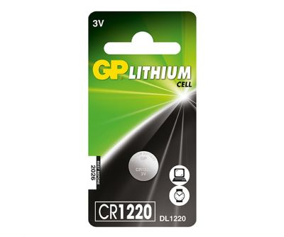 GP CR1220 3V Coin Cell Battery