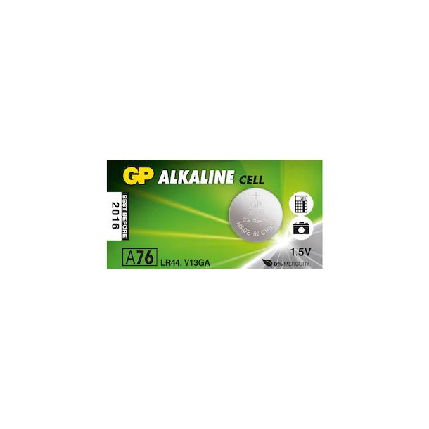 GP LR44 1.5V Alkalin Coin Battery A76 - AG13