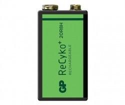 GP ReCyko+ 200 Series 200mAh 9V Size - Thumbnail