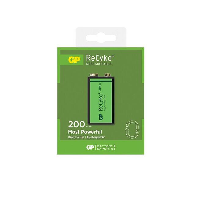 GP ReCyko+ 200 Series 200mAh 9V Size