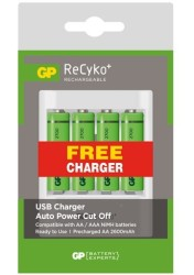 GP - GP U411 4x2700 Series ReCyko AA USB Charger