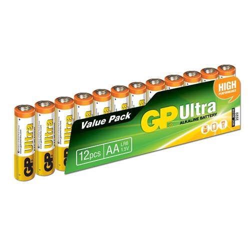 GP Ultra 1.5 V AA Kalem Pil - 12′li Ekonomik Paket