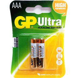 GP - GP Ultra 1.5V AAA Battery (Remote Control Battery) - 2-Pack