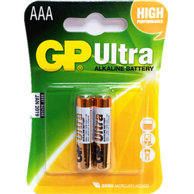 GP Ultra 1.5V AAA Battery (Remote Control Battery) - 2-Pack