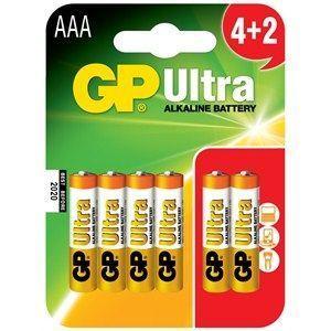 GP Ultra Alkalin 1.5 V AAA İnce Kalem Pil (Kumanda Pili) - (4+2) 6′lı Ekonomik Paket