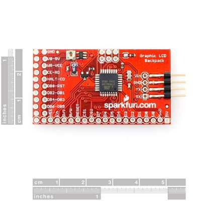 Graphical LCD Serial Converter Board