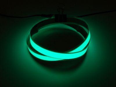 Green Electroluminescent (EL) Tape Strip - 100cm w/2 connectors - AF446