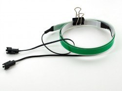 Green Electroluminescent (EL) Tape Strip - 100cm w/2 connectors - AF446 - Thumbnail