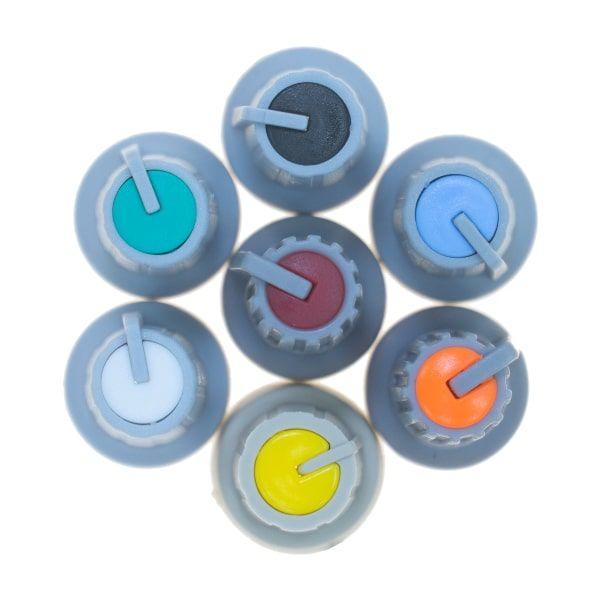 Grey Potansiometer Button (White Headed)