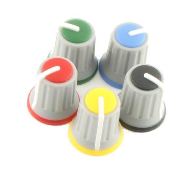 Gri Potansiyometre Düğmesi (Sarı Başlı)