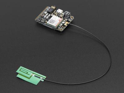 GSM/Hücresel Quad-Bant Anten - uFL Konektör -İnce Sticker Tip - 3 dBi - 200 mm
