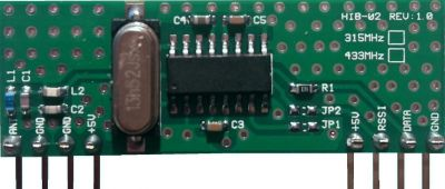 HIB02-433 433 MHz RF Alıcı Hibrit Modül