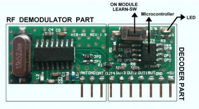 HIB03-PT-315 315 MHz Kod Çözen ve Kod Öğrenen Akıllı RF Hibrit Modül