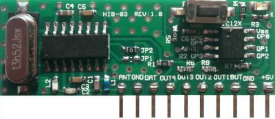HIB03-PT-433 Smart RF Receiver Module with Decoding and Code Learning Feature