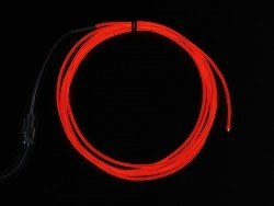 High Brightness Red Electroluminescent (EL) Wire - 2.5 meters - AF403 - Thumbnail