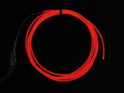 High Brightness Red Electroluminescent (EL) Wire - 2.5 meters - AF403