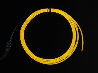 High Brightness Yellow Electroluminescent (EL) Wire - 2.5 meters - AF406