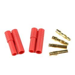 China - HXT 4mm Batarya Konnektörü Kırmızı (Çiftli Set)