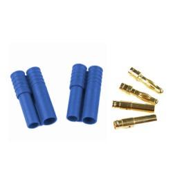 China - HXT 4mm Batarya Konnektörü Mavi (Çiftli Set)