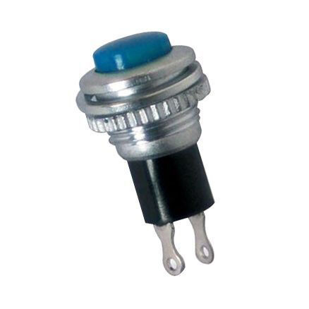 IC179 Metal Coloured Button with Spring - Blue