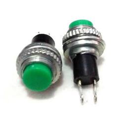 Robotistan - IC179 Metal Renkli Yaylı Buton - Yeşil