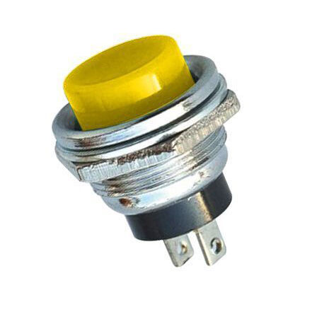 IC180 Metal Big Coloured Button - Yellow