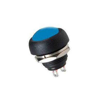 IC184 Plastic Coloured Mushroom Type Button - Blue