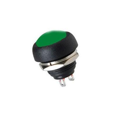 IC184 Plastic Coloured Mushroom Type Button - Green
