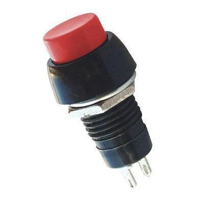IC191 Plastik Kısa Buton - Kırmızı