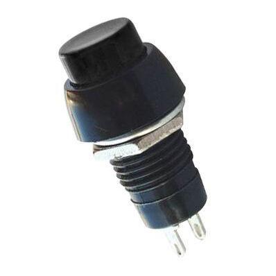 IC191 Plastik Kısa Buton - Siyah